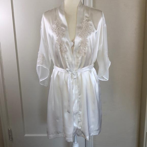 8d1ed0d4db68 Dentelle Other - Bridal lingerie set - white satin lace robe   slip